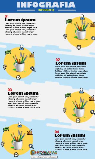 Plantilla de infografía en Word modelo 08