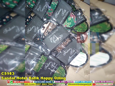 jual Sandal Hotel Batik Happy Oiling