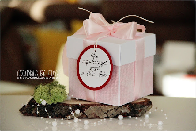 Pudełko ślubne z życzeniami na prezent pieniężny