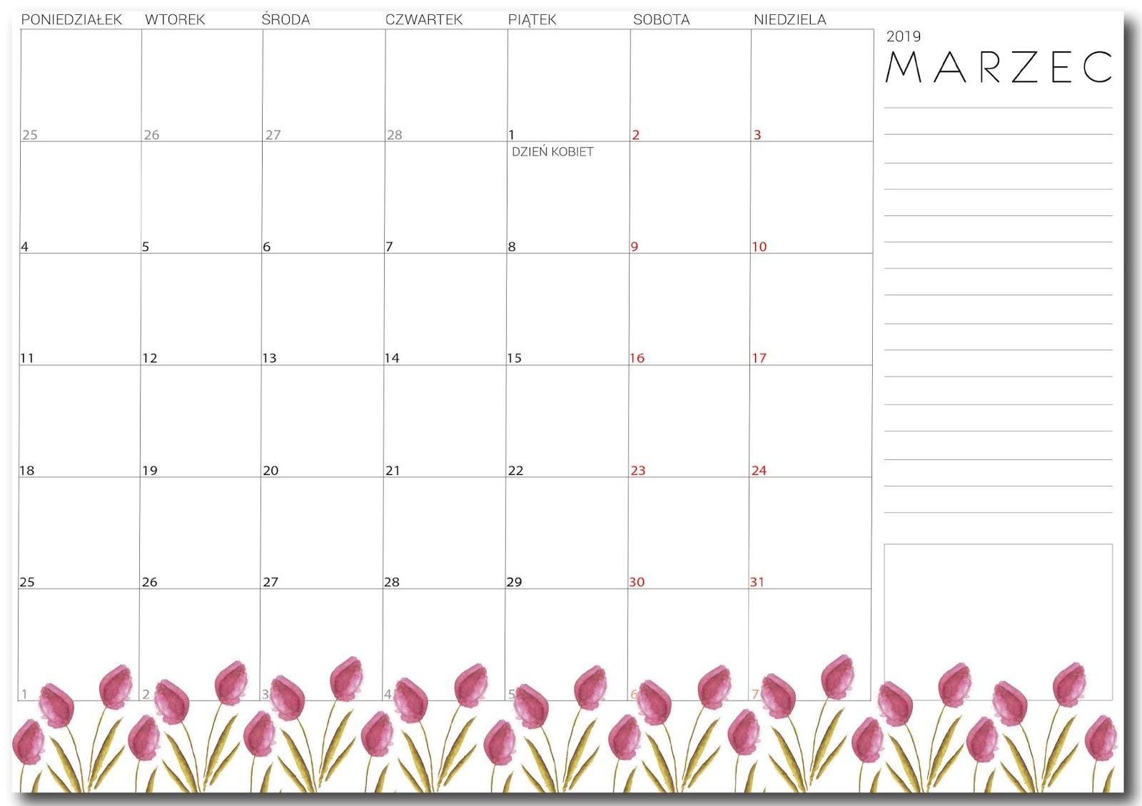 Planner na marzec 2019