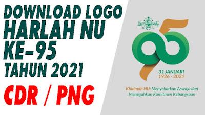 DOWNLOAD LOGO HARLAH NU Ke-95 TAHUN 2021 - FORMAT CDR  PNG BISA DIEDIT