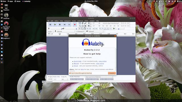 Ya podemos exprimirle el jugo a Audacity en nuestro Linux