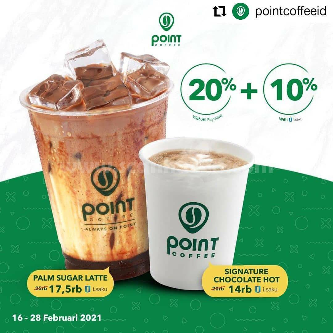 Promo Point Coffee Indomaret Discount up to 20% + 10% Off*