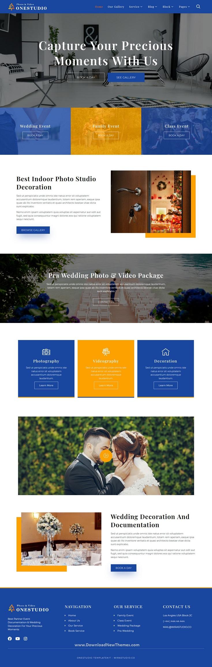 Photographer Agency Service Elementor Template Kit