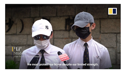 "RTHK interviews masked students who defy  ""no mask"" ordinance in Hong Kong"