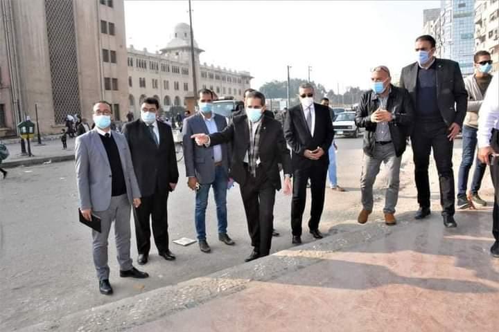 بالصور..محافظ الغربية في جولة ميدانية يتابع أعمال التطوير بالمحطة والسيد البدوي