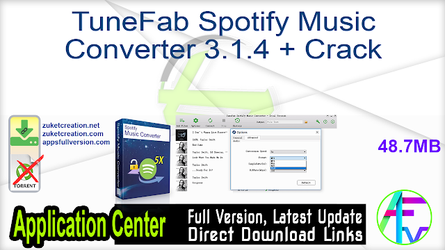 TuneFab Spotify Music Converter 3.1.4 + Crack
