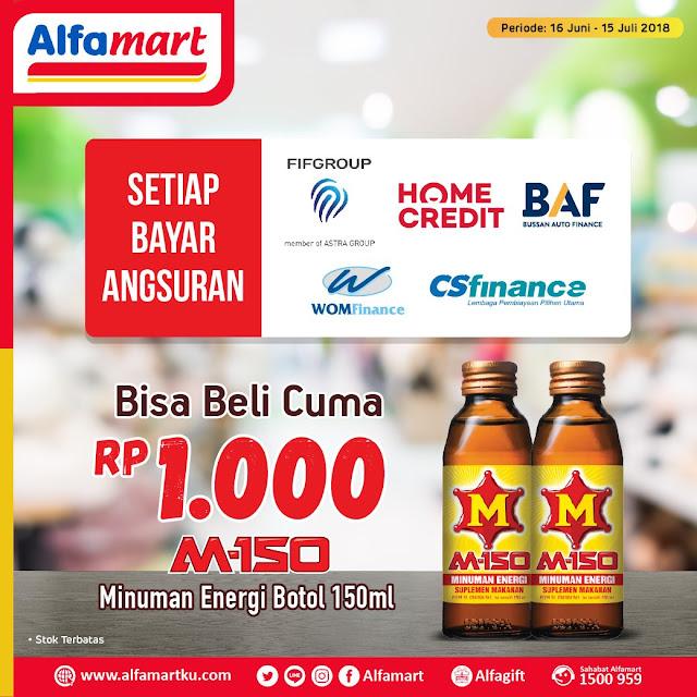 Alfamart - Promo Bayar Angsuran Tebus M150 Cuma 1 Ribu