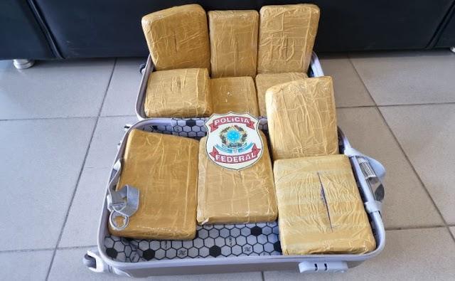 Cabeleleira é presa pela Polícia Federal transportando  mais de 10 kg de maconha em Recife, PE