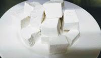 Cubes of paneer for paneer Tikka