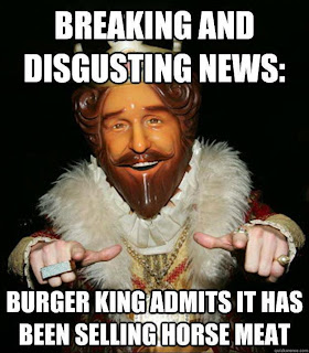 Burger King Whoppers containing horse-meat