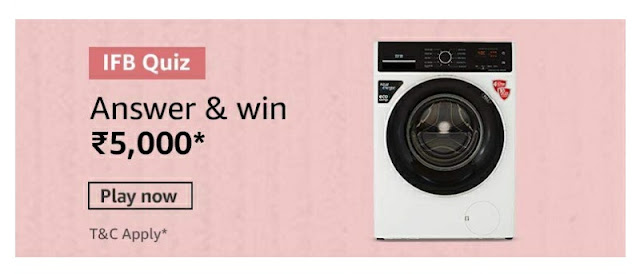 IFB Washing Machine Quiz answer and win