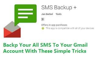 How to backup SMS to G mail account