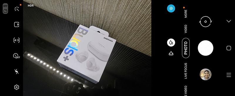 Main camera app UI