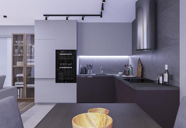 minimalis desain dapur apartemen