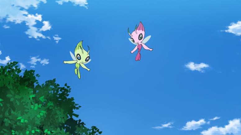Celebi Shiny Anime Pokémon