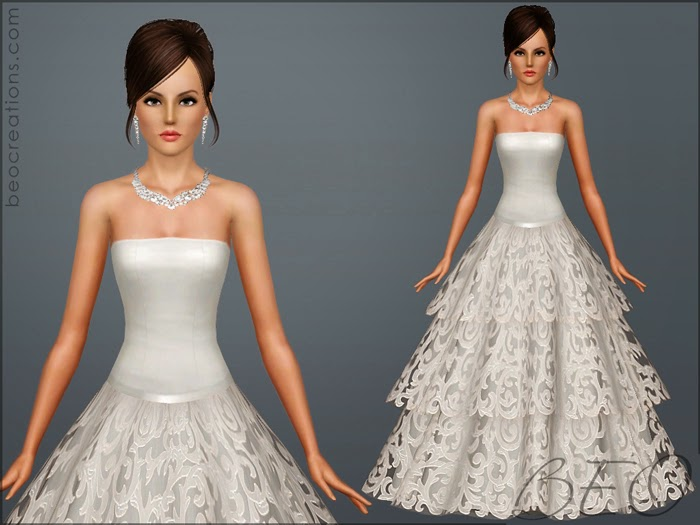 My Sims 3 Blog: Wedding Dress 22 By BEO