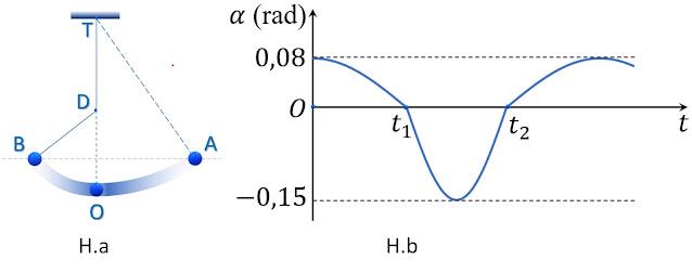 Hình ảnh minh họa câu 10 tracnghiem online Phương trình dao động của con lắc đơn