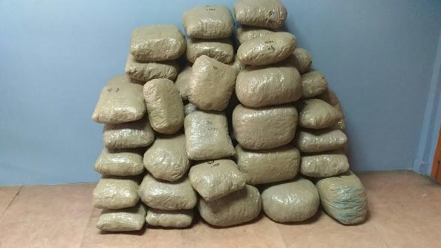 Συνελήφθησαν δύο άτομα με ποσότητα ακατέργαστης κάνναβης, βάρους 68 κιλών και 800 γραμμαρίων