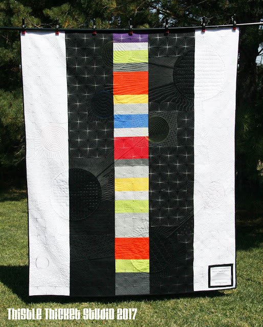 Molecules of Moda: Bella Solids Quilt Back by Thistle Thicket Studio. www.thistlethicketstudio.com