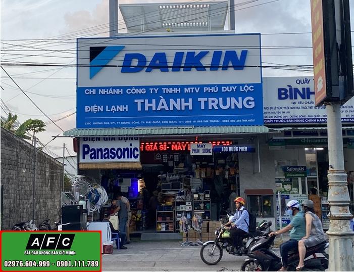 Thiết kế thi công bảng hiệu Alu chữ nổi Mica DaiKin Phú Quốc