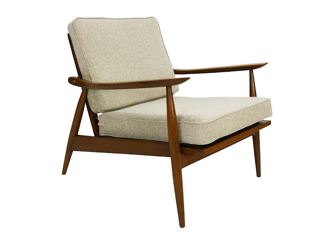 hans Wegner Style Lounge Chair GE-270 Side Angle