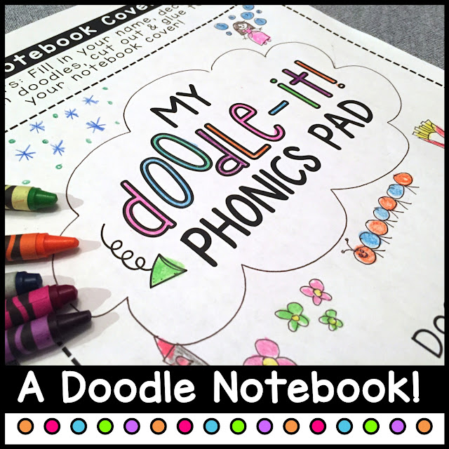 Doodle-It gives your phonics lessons an interactive, creative twist and encourages your Preschool, Kindergarten, or even First Grade kids to explore phonics through art and drawing. The Phonics Poetry book with original poems is explores a variety of concepts including alphabet, blends, digraphs, & more. These interactive activities for kids are great for any time of the year. Start Back to School off right, using Doodle-It as an introduction or review. Also great as End of the Year activities too. Bind them together to create a Doodle Phonics Book!