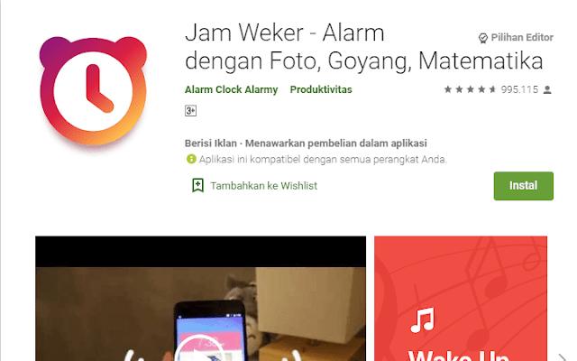 Aplikasi Alarm Terbaik Jam Weker