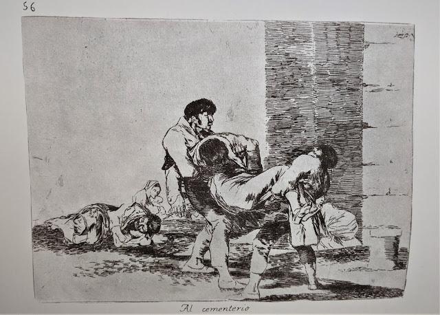 Goya's etching: Al cementerio
