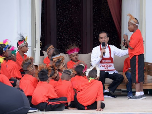 Presiden Jokowi Penuhi Janji, Ajak Anak-Anak Papua Berkunjung ke Jakarta