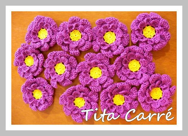 Flores e mais flores em crochet