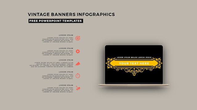Vintage Banners Infographic Free PowerPoint Template Slide 24