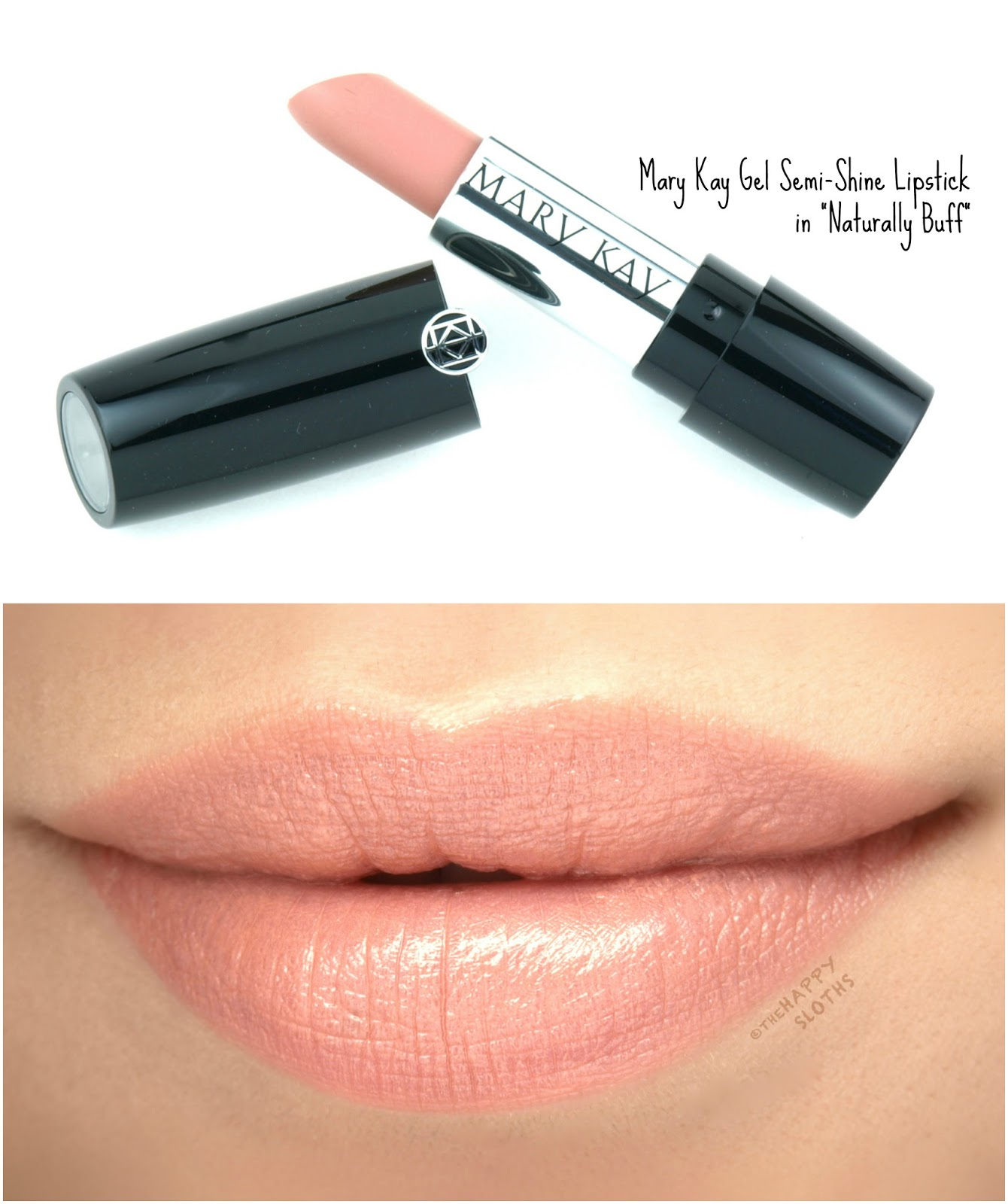 "Mary Kay Gel Semi-Shine Lipstick in ""Naturally Buff"": Review and Swatches"