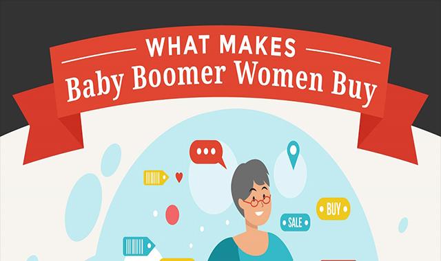 What Makes Baby Boomer Women Buy #infographic