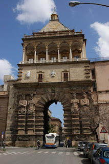Palermo's imposing monumental arch at Porta Nuova