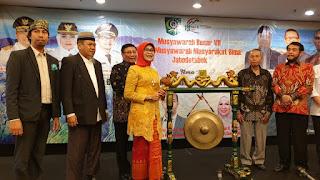 Wakili Gubernur NTB, Baiq Eva Buka Acara MuBes VII BMMB di Jakarta