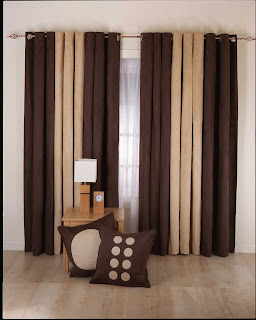 Milky Brown Chocolate Curtain Design