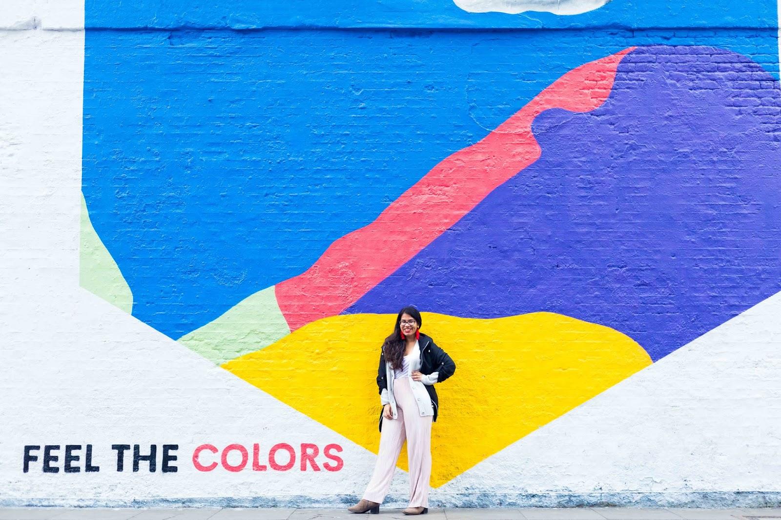 Feel The Colours Shoreditch Art Work