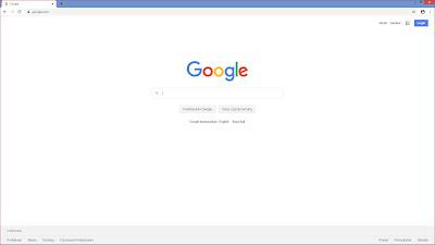 Tampilan homepage mesin pencari Google