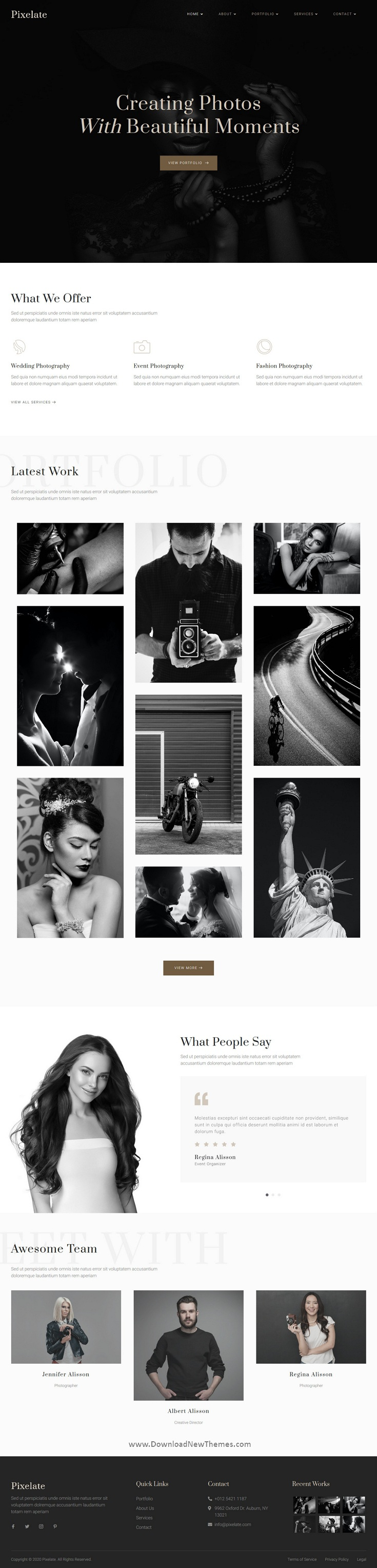 Portfolio & Photography Template