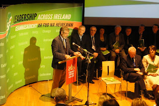 Gerry Adams speaking at Sinn Fein manifesto launch for 2011 Assembly and local government elections