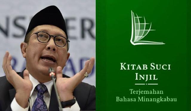 Mantan Menteri Agama Lukman Saifuddin Bela Injil Bahasa Minang: Bukan Hanya Boleh, Justru Amat Disarankan