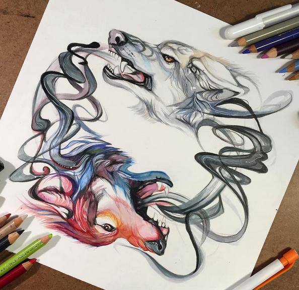 gambar keren kreatif dan menarik dengan menggunakan pensil warna-15