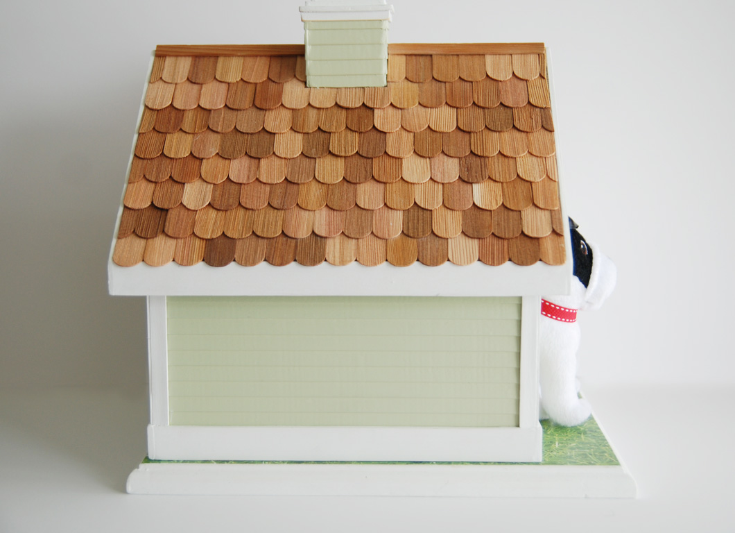 cottage style dog house | cedar shingles | painted siding | Rambling Renovators