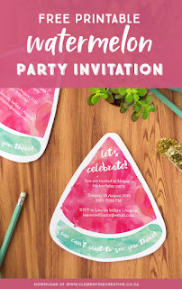 free printable watermelon invitations