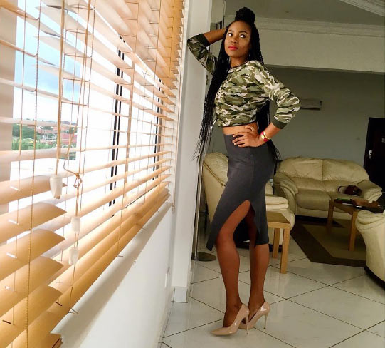 Yvonne Nelson shows off banging body in military camo outfit