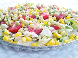 nohutlu salata yapılışı