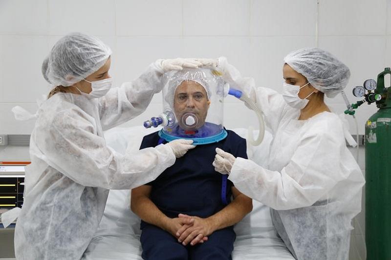 Sesab faz aquisição de 400 capacetes para ventilação mecânica não-invasiva de pacientes com Covid-19  - Portal Spy