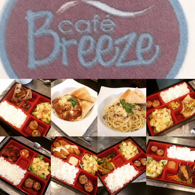 A la carte dishes at Cafe Breeze in Cebu City