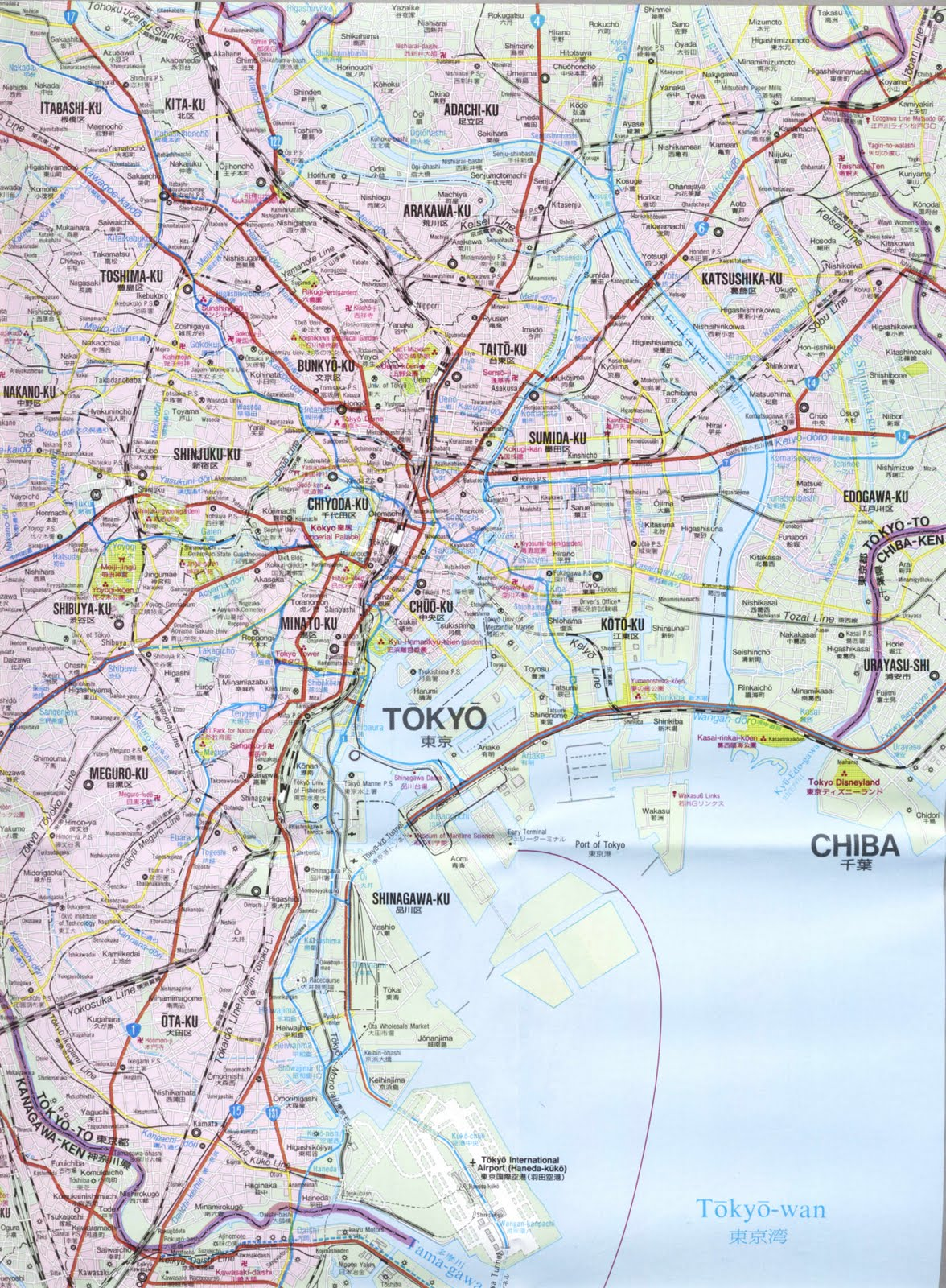 Detailed Map Of Tokyo